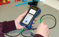 High precision coating thickness gauge withexternal sensor.