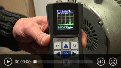 Watch application video of data logger PCE-VM 25.