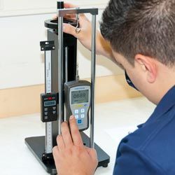 Force gauge application test stand