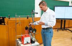 Gauss Meter university magnet experimental setup.