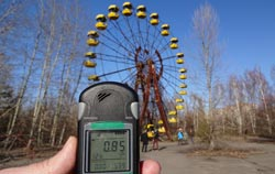 Geiger counter in Tschernobyl