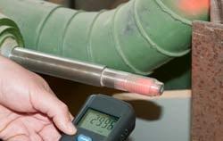 Speed measurement with stroboscopes application.