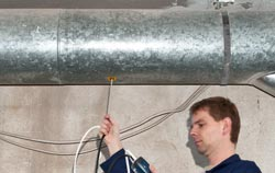 HVAC Meter Testing Air Ventilation Pipes
