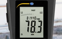 Dispaly of PCE-322A noise meter / sound meter