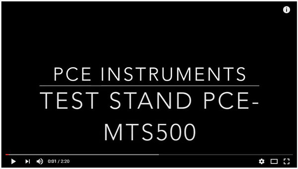 Video of Universal Testing Machine PCE-MTS500