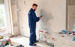 Concrete moisture meter PCE-PMI 2 application.