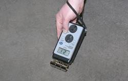 Concrete moisture meter PCE-WP21 application.