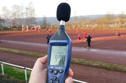 Sound meter to measure sports noise