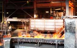 PCE stroboscope application in steel production.