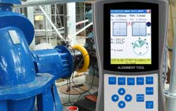 Condition monitoring by a vibration meter.