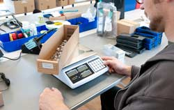 Weighing Equipment Scales and Balances in an application.