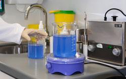 Agitador magnético en consultorio médico