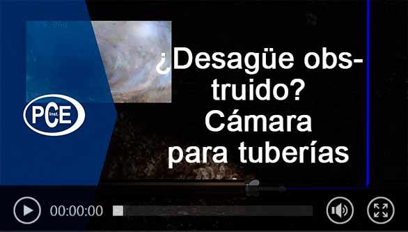 Vídeo de la cámara para tuberías