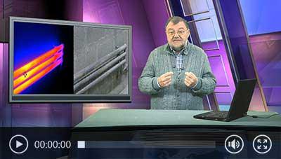 Video de la cámara de inspección en uso