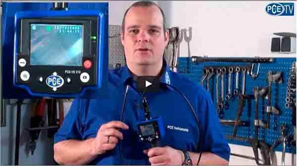 Video de la camara de inspeccion PCE-VE 310