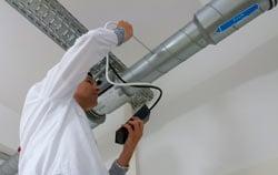 Caudalímetro en un sistema de ventilación.
