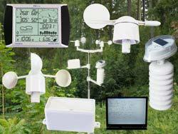 Estación meteorológica PCE-FWS 20 con todos los sensores y el software