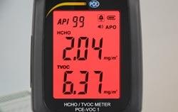 Aplicación - Medidor de formaldehído alarma.