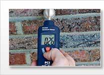 Medidor de humedad para materiales de construcción