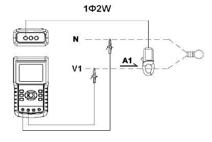 Circuito conmutador del medidor de potencia