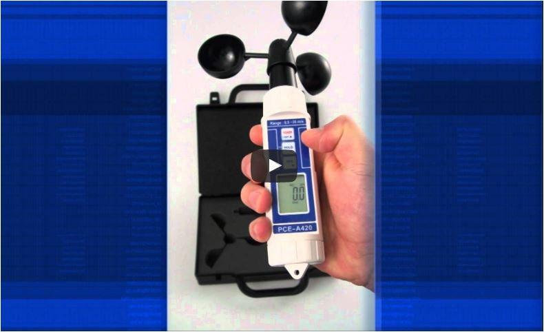Video del anemómetro PCE-A 420