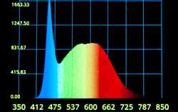 Análise espectral LED com um espectrômetro