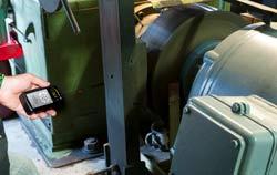 Uso do estroboscopio em uma máquina