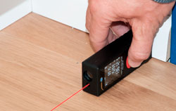 Utilisation du mètre laser