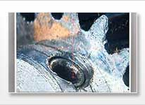 Pouce d'eau dans le microscope