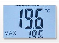 Écran du thermomètre infrarouge