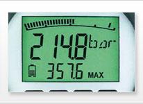 Digitalmanometer-Anzeige