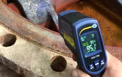 Digitalthermometer in der Anwendung.