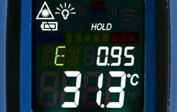 Emissionseinstellung beim Infrarotthermometer