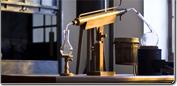 Labortechnik mit dem Bereich Destilliertechnik