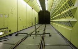 Luftstrommessgerät zur Verwendung im Windkanal.