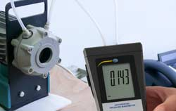 Digitales Manometer in Anwendung