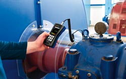 Vibration meter application at power plant.
