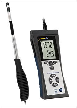 Medição do ar / Anemômetro de fio térmico
