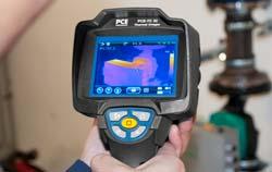 Imagem de aplicação de uma câmera termográfica