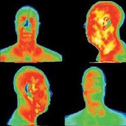 Imagem infravermelha com uma câmera termográfica