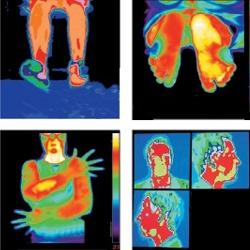 Imagem térmica com uma câmera termográfica