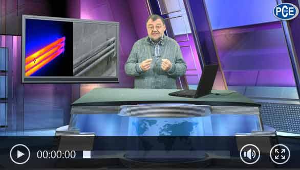 Vídeo de uma câmera termográfica