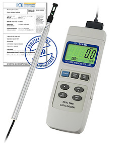 Air Flow Meter incl. ISO Calibration Certificate PCE-009-ICA