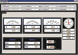 Three-Phase Clamp on Tester PCE-GPA 62 software