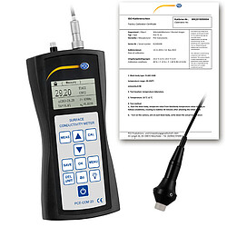 Conductivity Tester for Metals PCE-COM 20-ICA incl. ISO Calibration Certificate