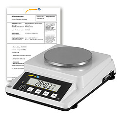 GSM Paper Basis Weight Balance PCE-DMS 310-ICA Incl. ISO Calibration Certificate