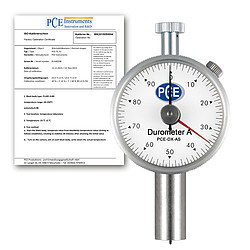 Hardness Tester PCE-DX-AS Shore A incl. ISO Calibration Certificate