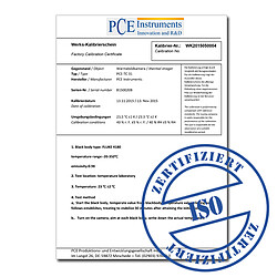 ISO Calibration Certificate CAL-CO2