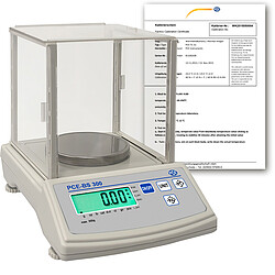 LAB Scale PCE-BS 300-ICA Incl. ISO Calibration Certificate