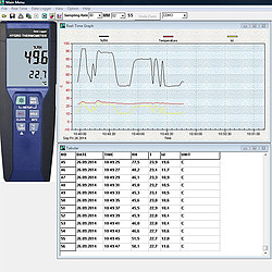Multifunction Air Humidity Meter PCE-330 Software